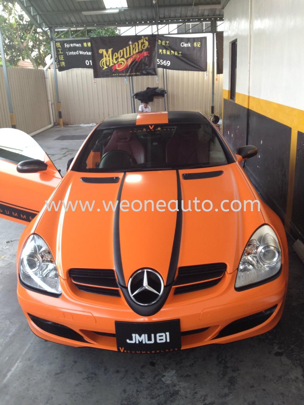 Car sticker design jb - Slk Orange Colour Sticker Car Sticker Design Johor Bahru Jb Johor Malaysia Supplier Suppliers Supply Supplies We One Auto Station Sdn Bhd
