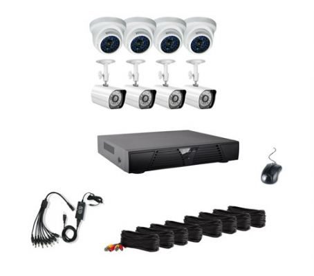 8CH CCTV Special Pack (IR Bullet & IR Dome Cameras with Recorder 500GB HDD)