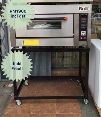 1 Deck 1 Tray Gas Oven RM 1900 incl gst