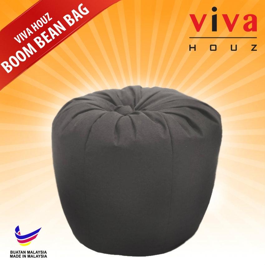 Viva Houz Boom Bean Bag Sofa Chair 20 Kg Grey