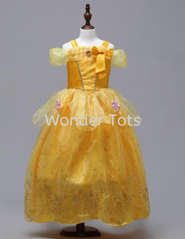 Princess Costume in Royal Yellow
