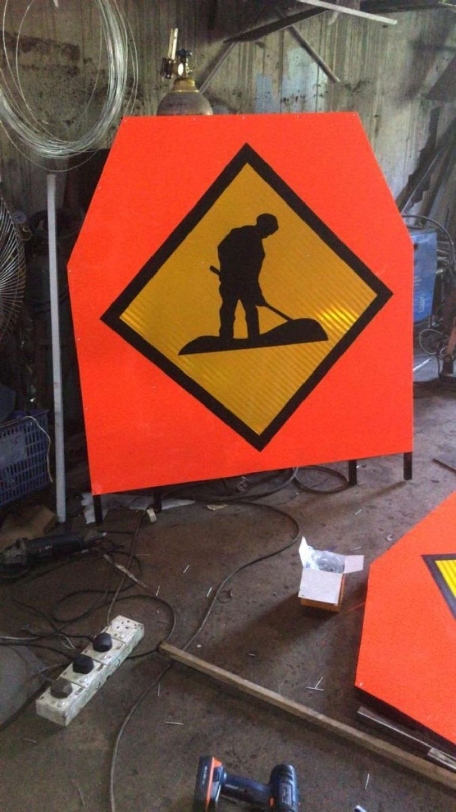 Temporary Road Sign