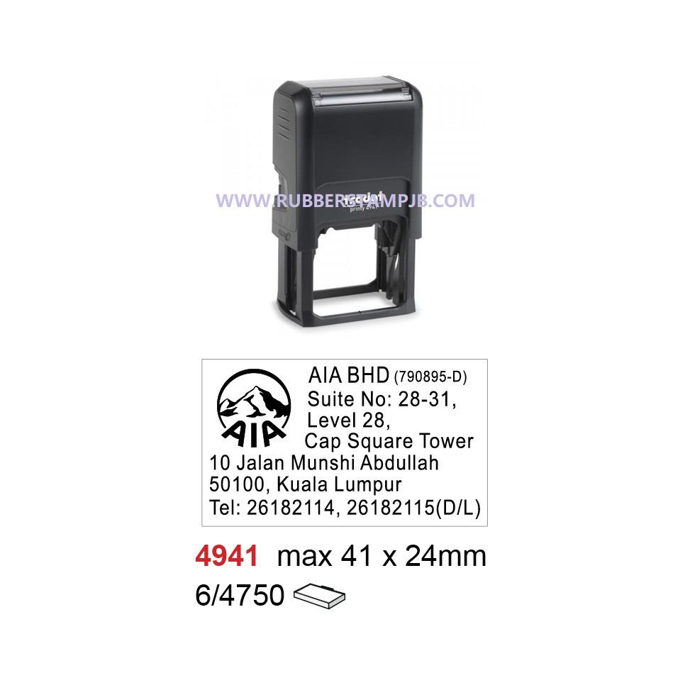 21. Rubber Stamp with company logo and address  4941