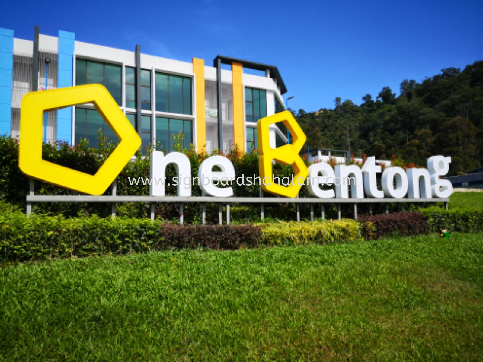 One Bentong Road, Aluminium Box UP WITH 3D LED FRONTLIT LETTERING