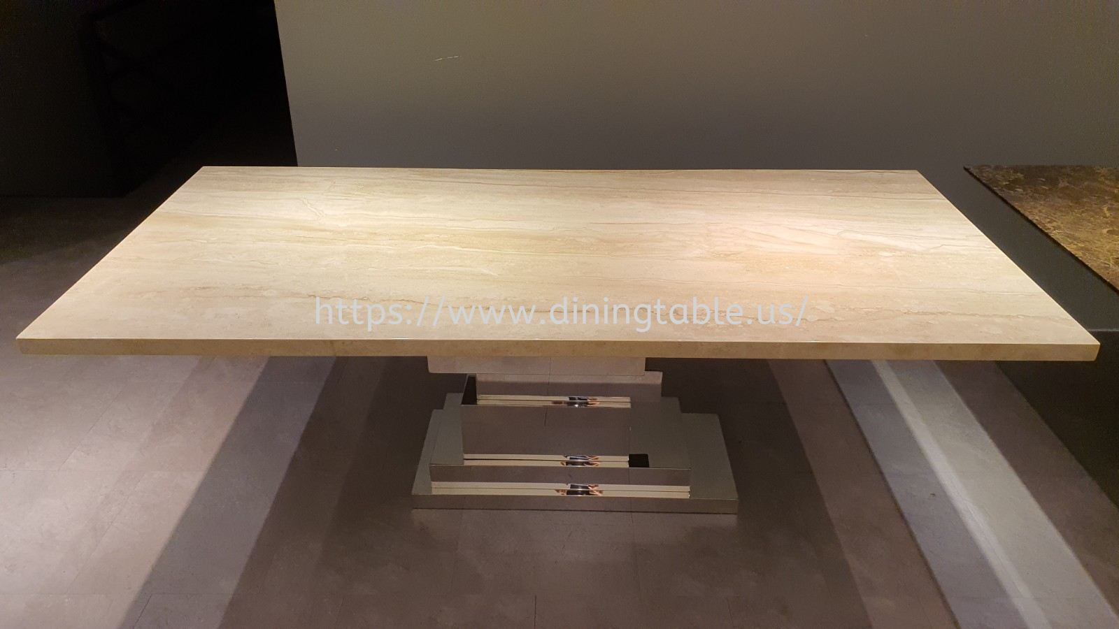 Luxury Beige Marble Dining Table