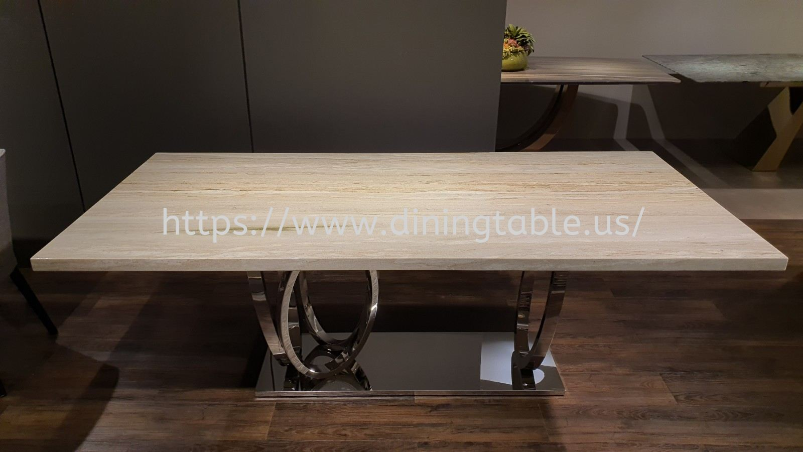 Luxury Grey Marble Dining Table -Palisandro