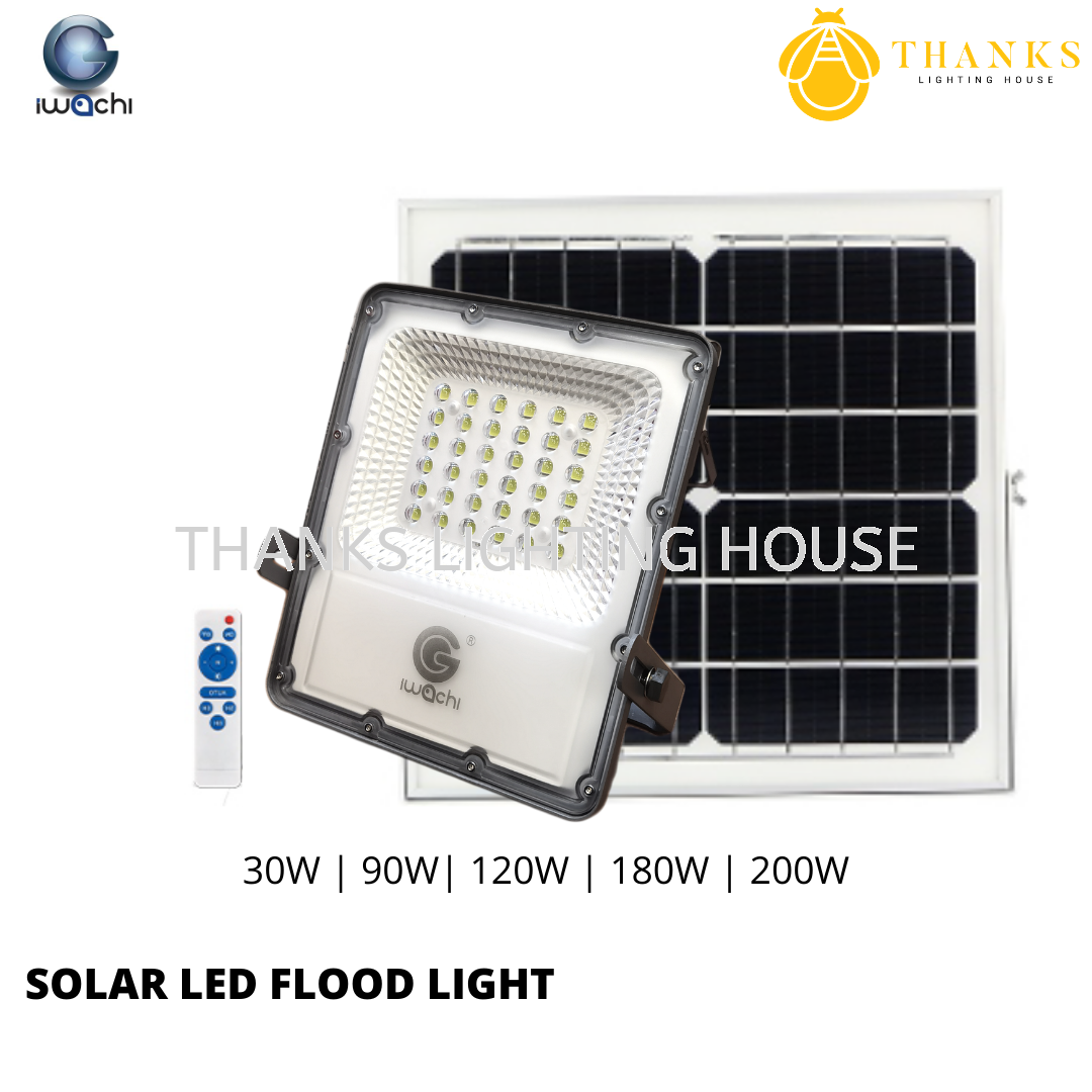 IWACHI SOLAR LED FLOOD LIGHT