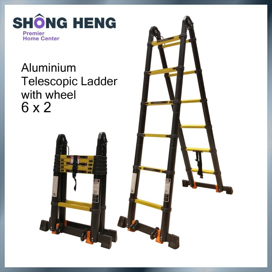Telescopic Multipurpose Ladder KME3038Y - Double 1.9m+1.9m