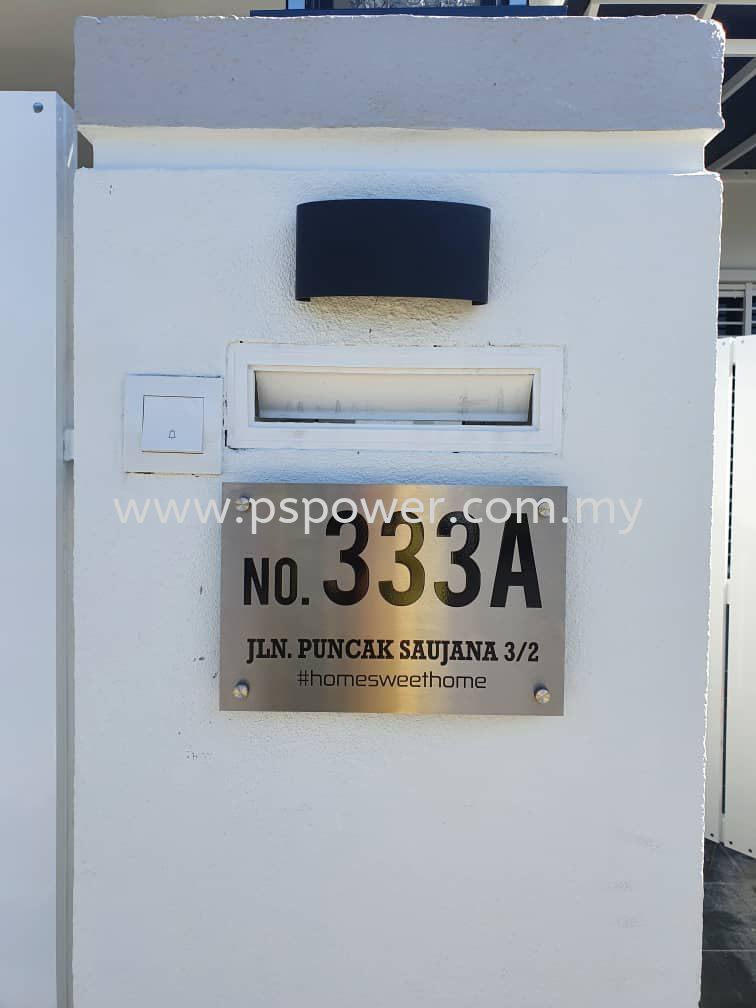 Stainless Steel Door Plate for Housing