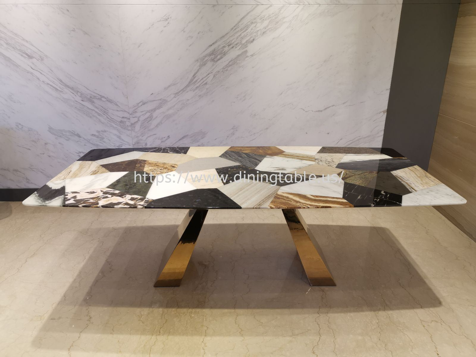 DeCasa Crafts Marble Dining Table