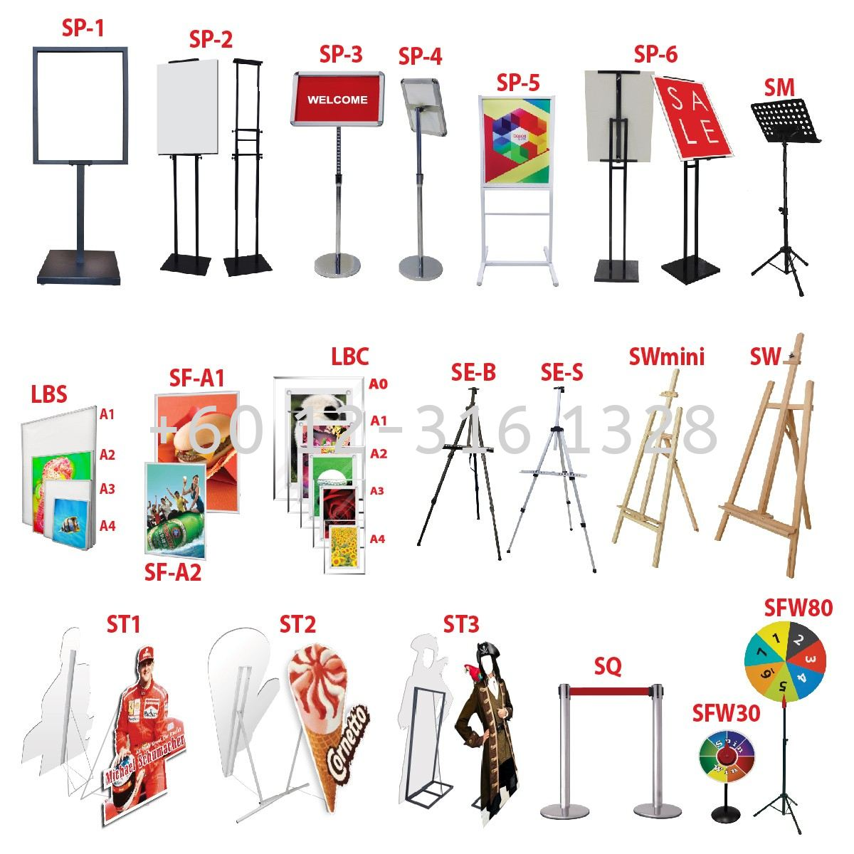 Easel Stand Menu Stand & Human Standee