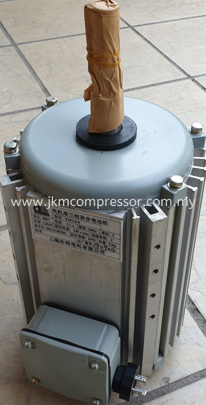 DK12AB028E - CARRIER YSF1.8-6 AIR COOLED CHILLER CONDENSER FAN MOTOR ; 380V 1.8kW