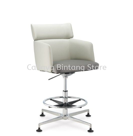 ANTHOM EXECUTIVE MEDIUM BACK LEATHER CHAIR C/W 4 PRONGED ALUMINIUM BASE AT6631L-15RH