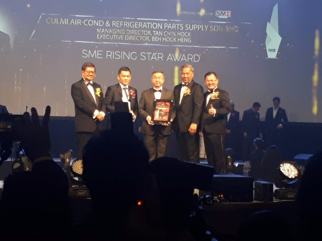 CULMI Air-Cond Received SME RISING STAR AWARD Under SME PLATINUM BUSINESS AWARDS 2017