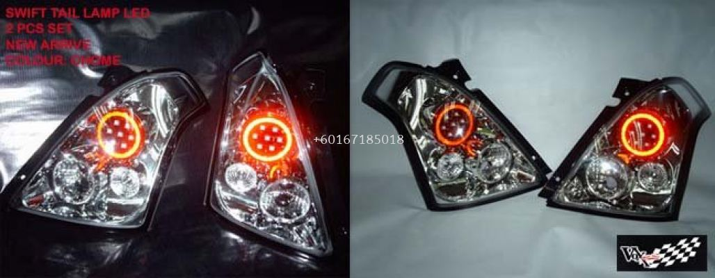 suzuki swift led tail lamp chrome