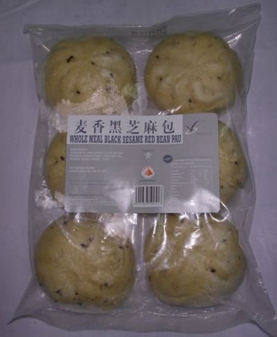 Whole Meal Black Sesame Red Bean Pau 500gm