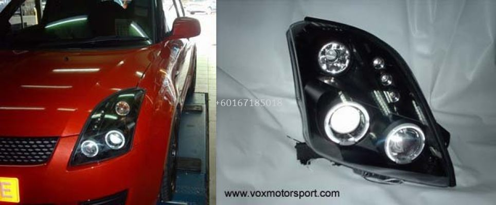 suzuki swift head lamp black housing