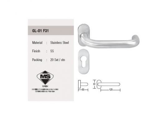ST Guchi_Stainless steel hollow lever handle  GL-01 F31
