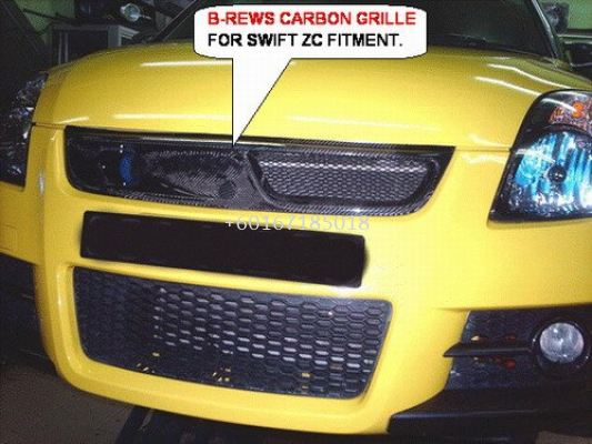 suzuki swift sport zc31s carbon grille b crew style replace upgrade performance look real carbon fiber material new set
