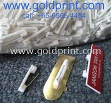 White Pins For Badges