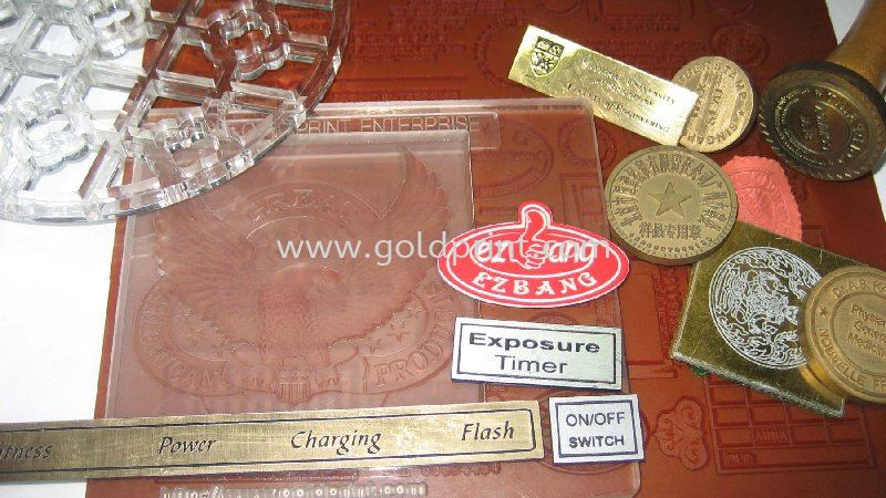 Engraving on Metal, Acrylic and Plastic Samples CNC Engraving Router Machineries Singapore Supply Suppliers | Goldprint Enterprise Pte Ltd