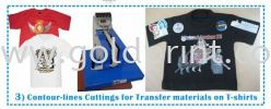 Contour Line Cutting for T-shirt Transfer  Samples Sticker Cutter / vinyl Cutting Machine