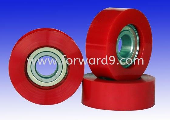 Polyurethane ( PU ) Guide Roller  Rollers / Wheels Polyurethane ( PU )  Polymer ( PU / Rubber etc )