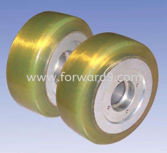 NYK 50's 1.5ton Caster Wheel Reach Truck Wheel Polymer ( PU / Rubber etc )