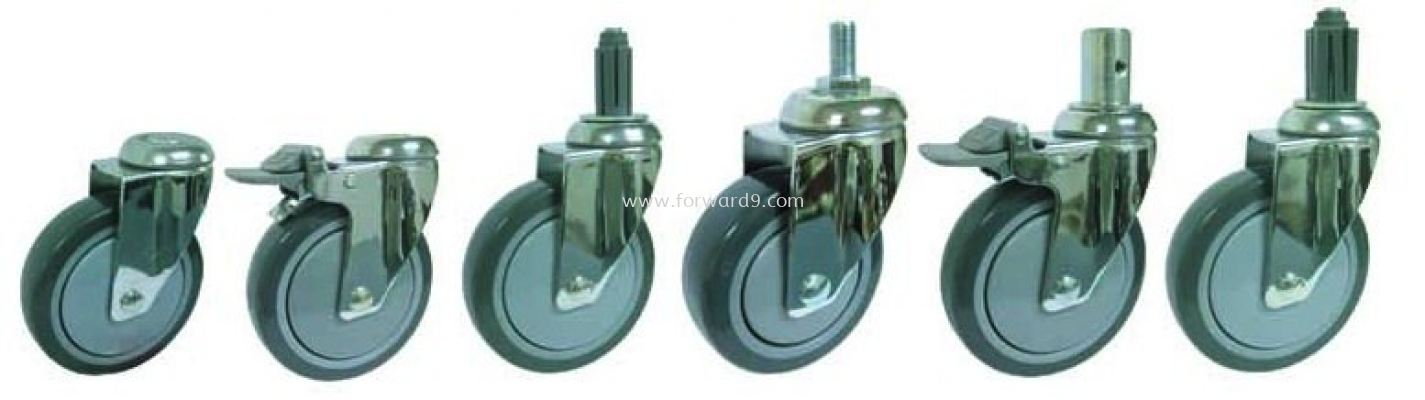 Bolt Hole / Thread Stem / Expansion Stem Castor ( 377 Series )