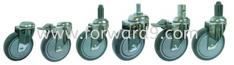 Bolt Hole / Thread Stem / Expansion Stem Castor ( 377 Series )  Medium Duty Castor  Castors Wheel