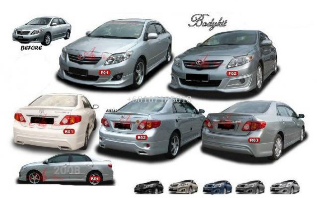 TOYOTA ALTIS 2009 BODYKIT REAR R02