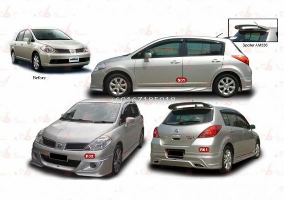 nissan latio hatch back bodykit vox