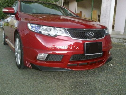 kia forte bodykit RSR bumper front lip on