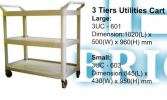 3 Tiers Utilities Cart Trolley and House Keeping