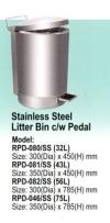 RPD-080/SS Stainless Steel Bin