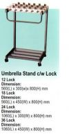 Umbrellas Stand c/w Lock Trolley and House Keeping