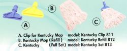 Blended Kentucky Mop With Strips Mop