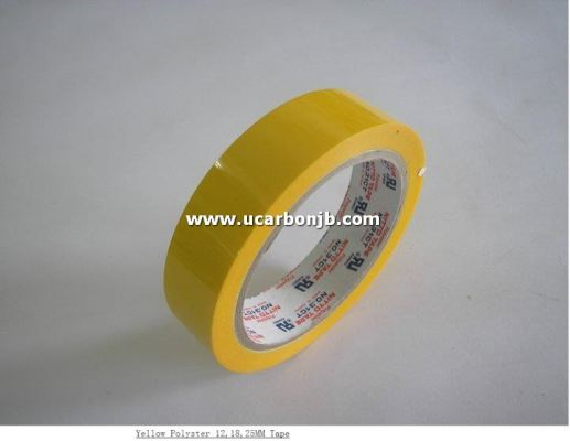 Yellow Polyster Tape 12 , 18 , 25 mm