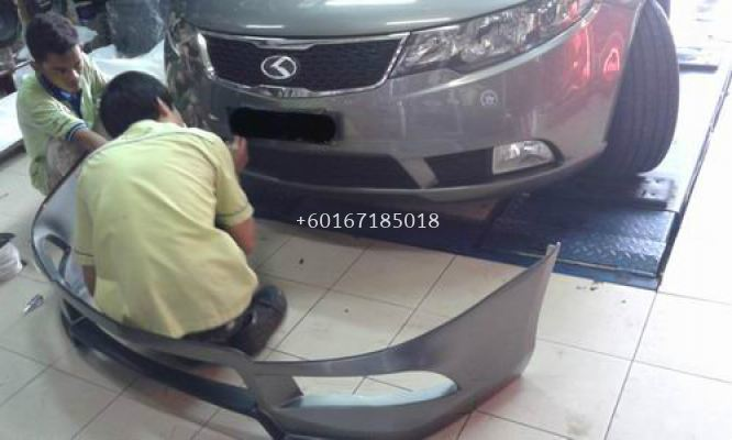 KIA FORTE OEM ABS BODYKIT AND SPOILER