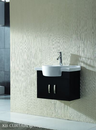 basin with cabinet
