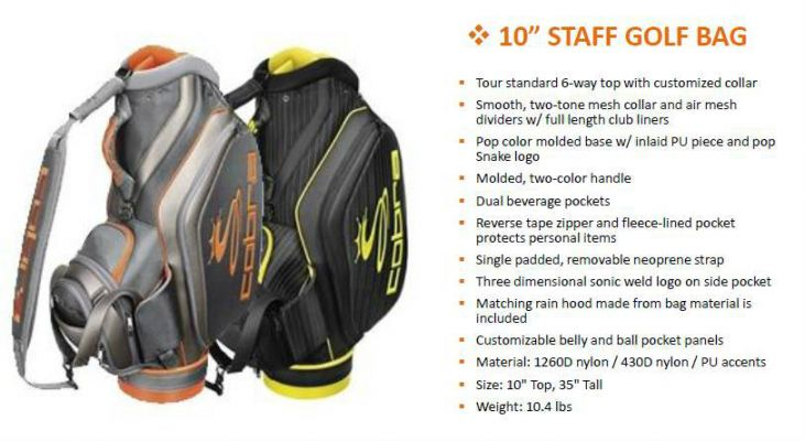 Cobra 10;quot; Staff Tour Golf Bag
