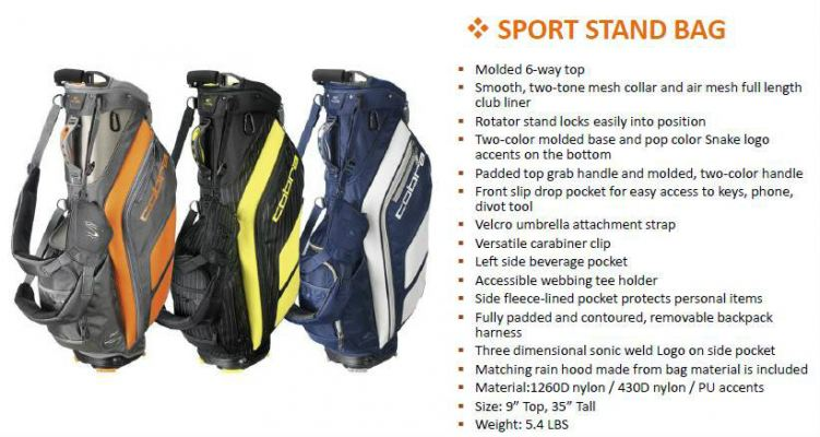 Cobra Sport Stand Golf Bag