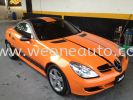 SLK - ORANGE COLOUR STICKER Car Sticker Design