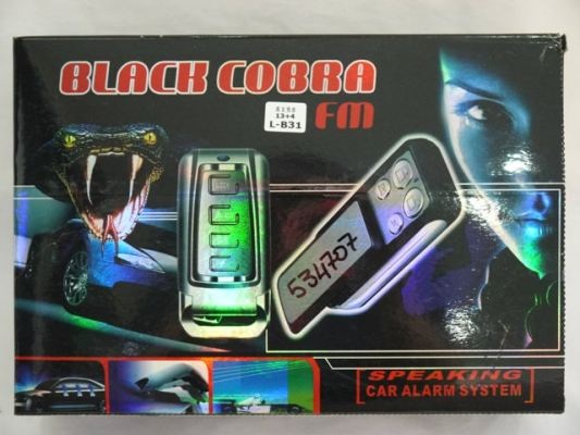 LB-31  Black Cobra Talking Car Alarm System