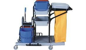 Janitor Cart c/w double bucket