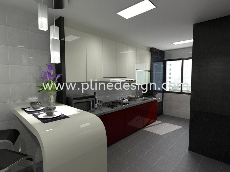 Wet kitchen design kitchen design jb johor bahru design for Home design johor bahru