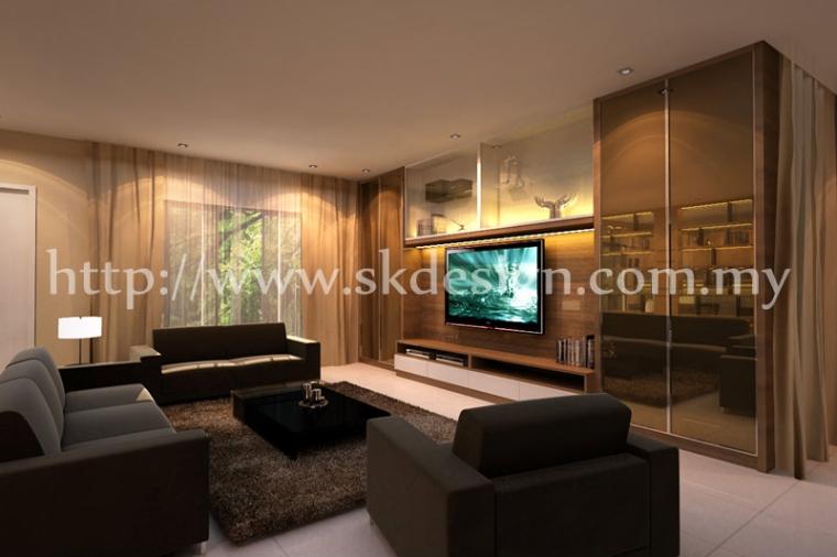 Residential Design Living Area Casa Almyra TV CONSOLE  LIVING AREA DESIGN
