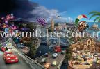 8-400_Cars_World_k KOMAR- DISNEY Wallpaper (0.53m x 10m)