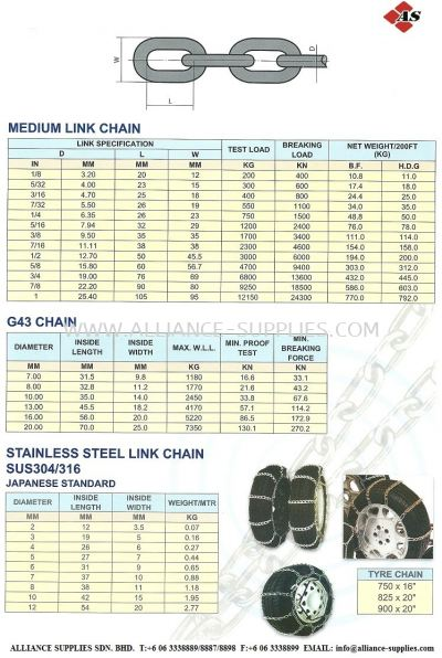 Medium Link/ G43/ Stainless Steel Chains