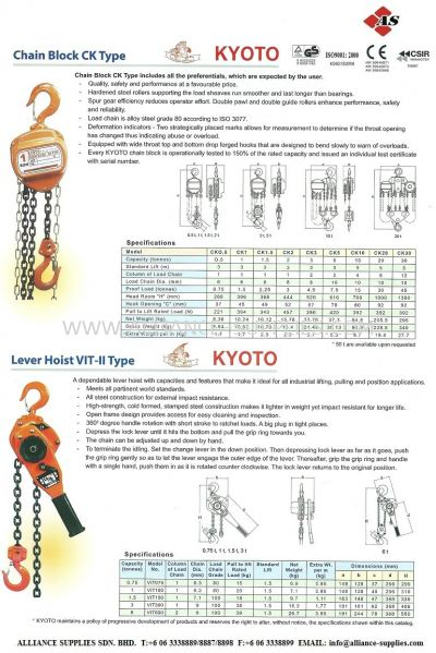 Chain Block/ Lever Hoist